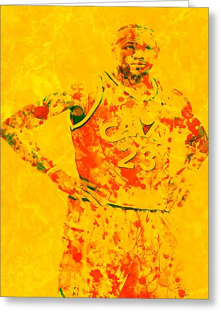 Miami Heat Digital Art Greeting Cards - Lebron James Back Home Greeting Card by Brian Reaves