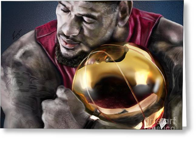 Nba Champion Greeting Cards - LeBron James - My Way Greeting Card by Reggie Duffie
