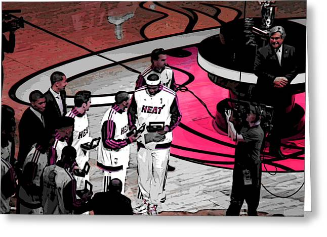 LeBron's 1st Ring Greeting Card by J Anthony
