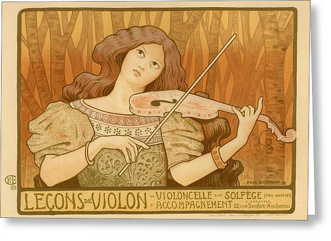 Lessons Greeting Cards - Lecons de Violon Greeting Card by Gianfranco Weiss