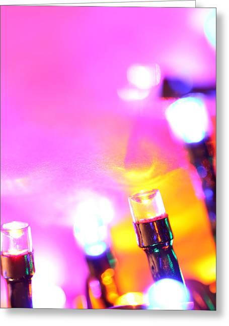 Emitters Greeting Cards - LED bulbs Greeting Card by Janaka Dharmasena