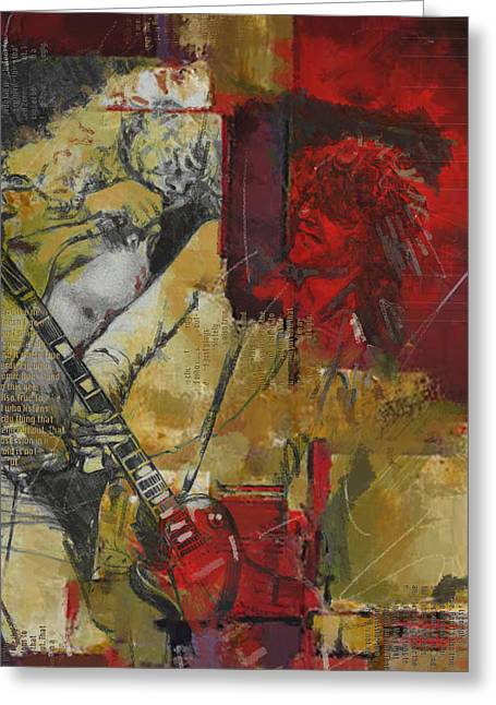 Rock N Roll Greeting Cards - Led Zeppelin Greeting Card by Corporate Art Task Force