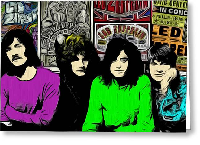 Led Zeppelin Prints Greeting Cards - Led Zeppelin Greeting Card by GR Cotler