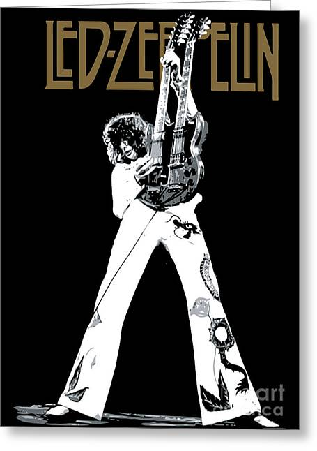 Rock Digital Art Greeting Cards - Led Zeppelin No.06 Greeting Card by Caio Caldas