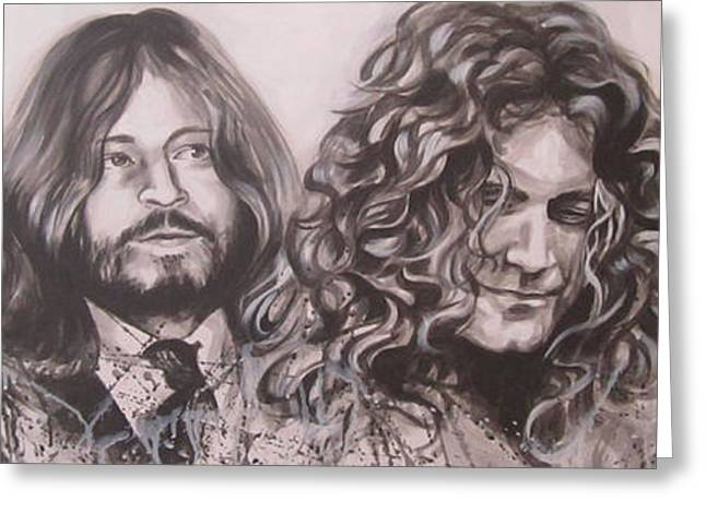 Robert Plant Paintings Greeting Cards - Led Zepplin Greeting Card by Bruce McLachlan