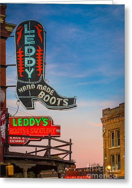 Saloons Greeting Cards - Leddy Boots Greeting Card by Inge Johnsson