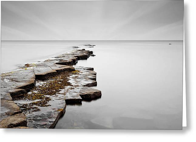 Ledge Greeting Cards - Ledge End Greeting Card by Richard Thomas