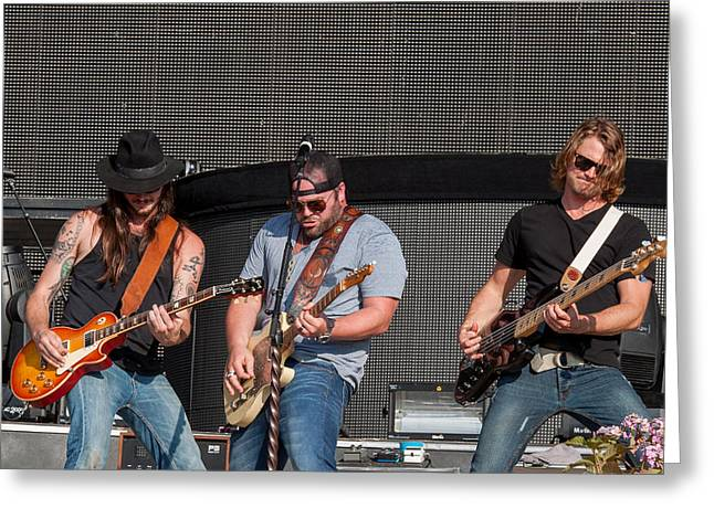 Live Music Greeting Cards - Lee Brice 2 Greeting Card by Mike Burgquist