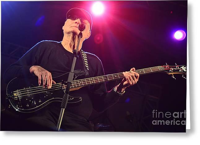 Vida Greeting Cards - Lee Dorman - Classic Rock bassist Greeting Card by Carlos Alkmin