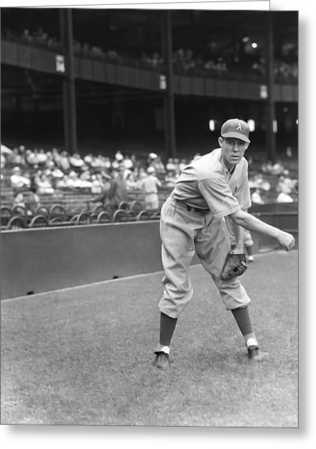 Baseball Game Greeting Cards - Lee Ross Greeting Card by Retro Images Archive