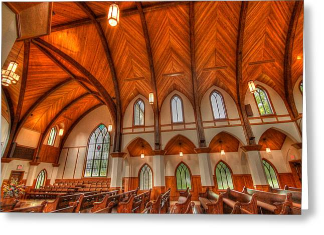 Lee Chapel Greeting Cards - Lee university Chapel Greeting Card by Donna Vasquez