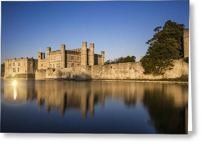 Moat Greeting Cards - Leeds castle Greeting Card by Ian Hufton