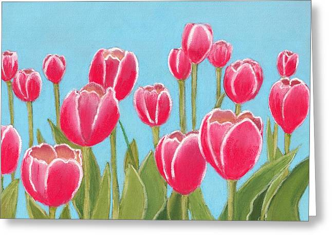 Valentine Pastels Greeting Cards - Leen van der Mark Tulips Greeting Card by Anastasiya Malakhova