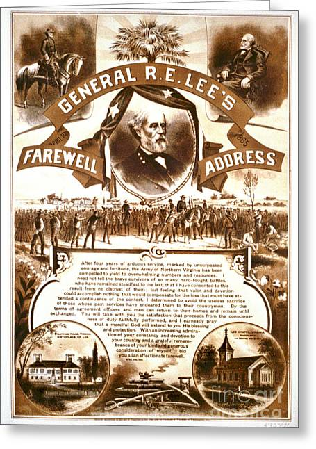 Lee's Farewell Address 1865 Greeting Card by Padre Art