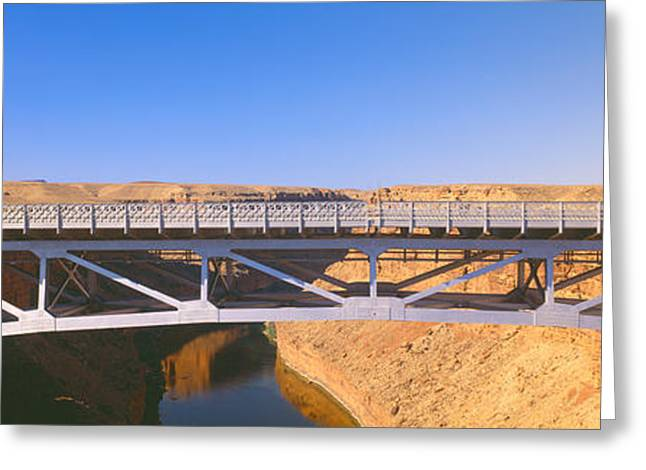 Colorado Plateau Greeting Cards - Lees Ferry In Marble Canyon, Navajo Greeting Card by Panoramic Images