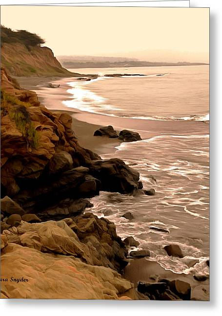 Coast Highway One Greeting Cards - Leffingwell Landing Cambria Detail 2 Greeting Card by Barbara Snyder