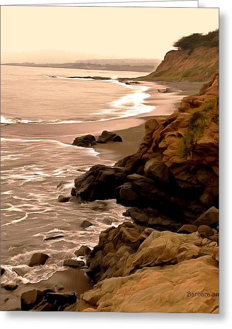 Coast Highway One Greeting Cards - Leffingwell Landing Cambria Detail Greeting Card by Barbara Snyder