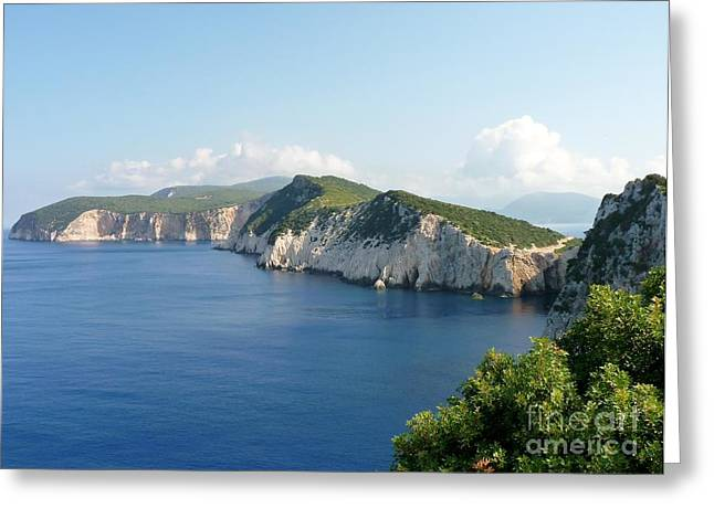 Ocean Sailing Greeting Cards - Lefkada Greeting Card by MAK Photography
