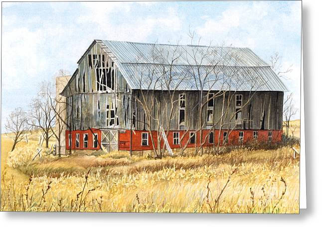 Pa Barns Greeting Cards - Left Behind Greeting Card by Barbara Jewell