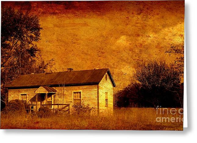 Old House Photographs Digital Art Greeting Cards - Left Behind Iv Greeting Card by Anita Lewis