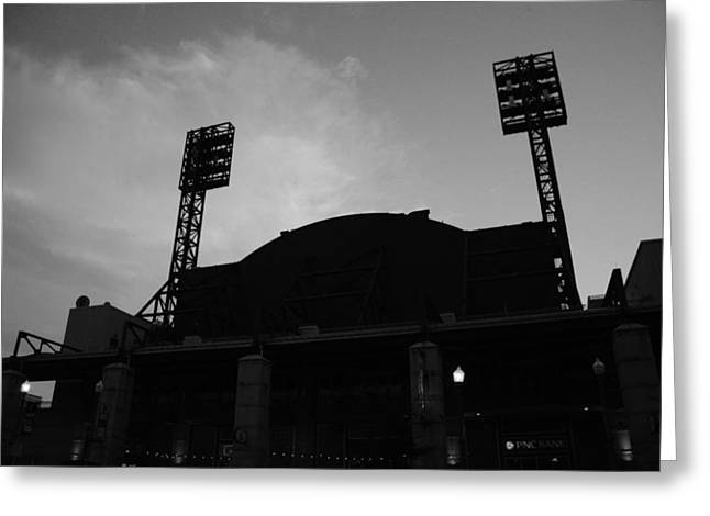 Left Field Silhouette Greeting Card by Paul Scolieri