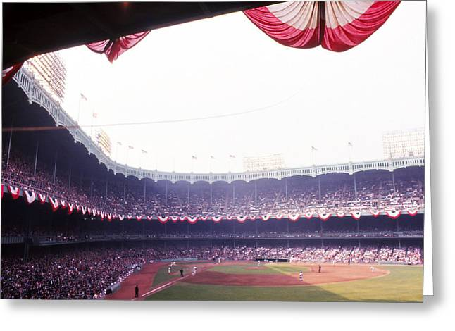 Yankee Stadium Greeting Card by Retro Images Archive