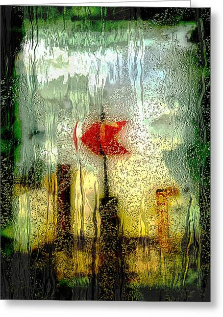 Glasswork Greeting Cards - Left Greeting Card by Jack Zulli