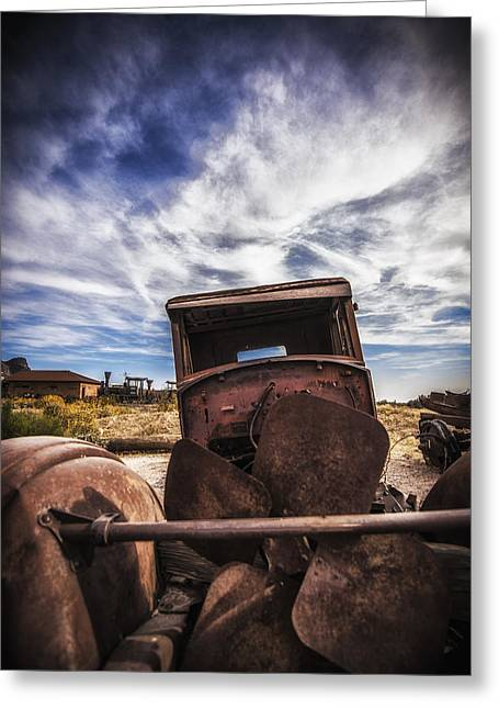Rusted Cars Greeting Cards - Left to Rust Greeting Card by Anthony Citro