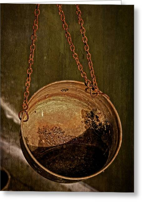 Hanging Planter Greeting Cards - Left To Rust Greeting Card by Odd Jeppesen
