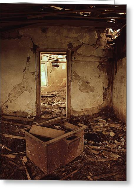 Abandoned House Greeting Cards - Left To Shout  Greeting Card by Jerry Cordeiro