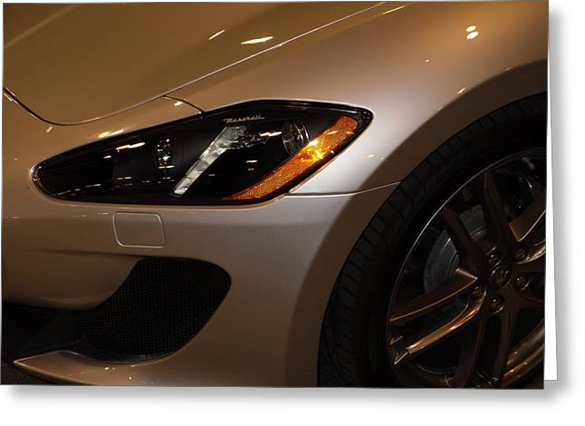 Maserati Greeting Cards - Left turn Greeting Card by Joe Hamilton