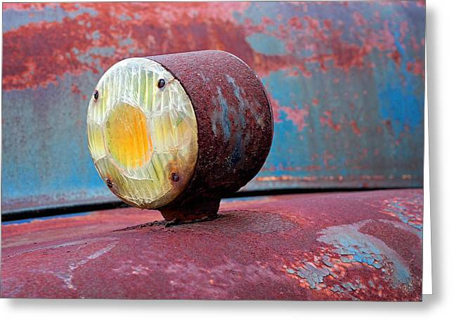 Industrial Background Greeting Cards - Left Turn Greeting Card by Michael Porchik
