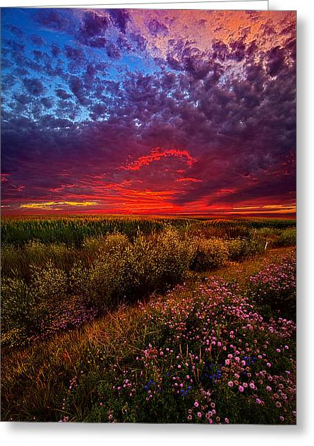 Twilight Greeting Cards - Left With The Memories Greeting Card by Phil Koch