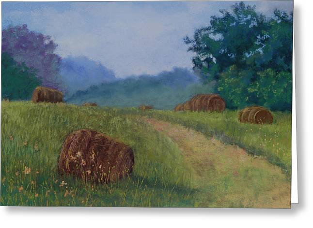 Bale Pastels Greeting Cards - Leftovers Greeting Card by Lorraine McFarland