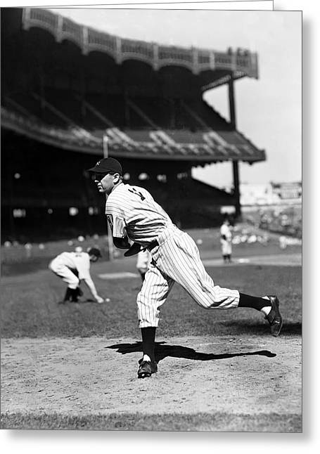 Historical Pictures Greeting Cards - Lefty Gomez Working Off Mound Greeting Card by Retro Images Archive