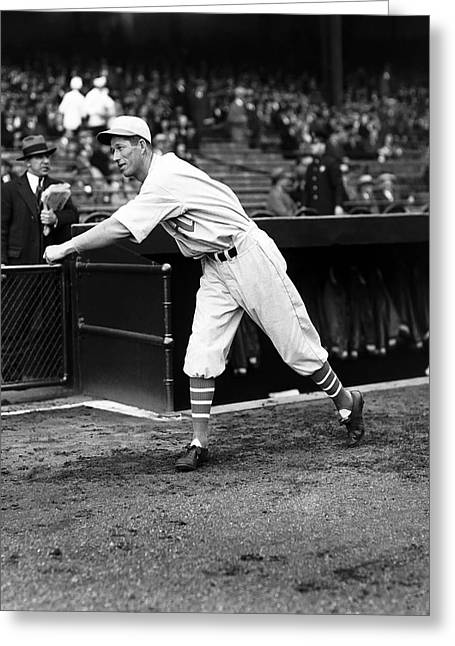 Historical Pictures Greeting Cards - Lefty Grove Boston Red Sox Greeting Card by Retro Images Archive