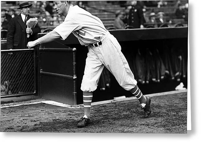 Lefty Grove Boston Red Sox Greeting Card by Retro Images Archive