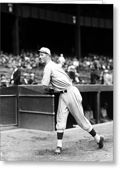 Retro Antique Greeting Cards - Lefty Grove Follow Through Greeting Card by Retro Images Archive