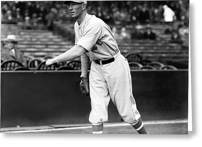 Lefty Grove Light Warm Up Greeting Card by Retro Images Archive