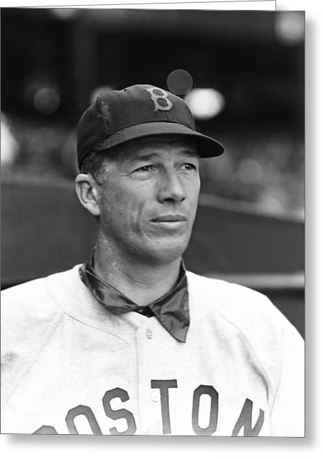 Retro Antique Greeting Cards - Lefty Grove Looking Away Greeting Card by Retro Images Archive
