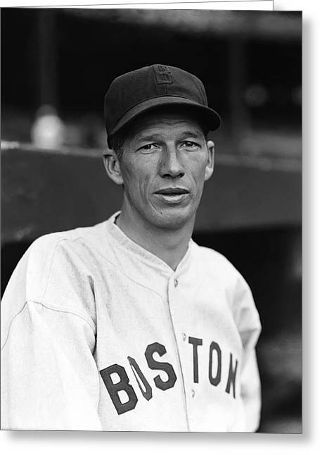 Hall Of Fame Greeting Cards - Lefty Grove One Foot Follow Through Greeting Card by Retro Images Archive