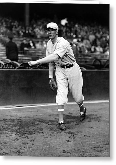 Hall Of Fame Greeting Cards - Lefty Grove Pitching Warm Up Greeting Card by Retro Images Archive