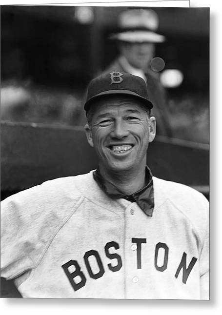Historical Pictures Greeting Cards - Lefty Grove Smiling Greeting Card by Retro Images Archive