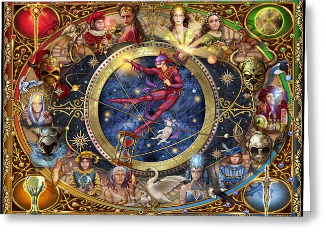 Wizard Greeting Cards - Legacy of the Divine Tarot Greeting Card by Ciro Marchetti