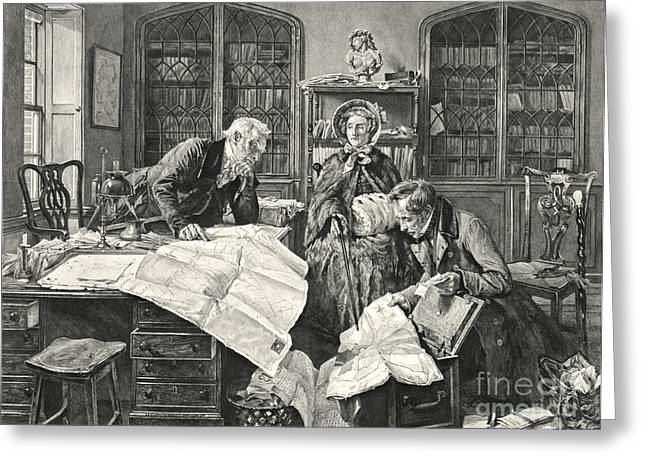 Recently Sold -  - Engraving Greeting Cards - Legal Point 1903 Greeting Card by Padre Art