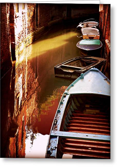 Legata Nel Canale Greeting Card by Micki Findlay