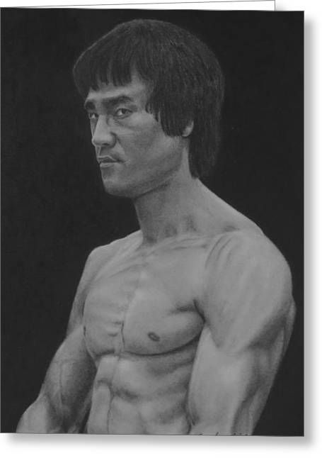 Enter The Dragon Greeting Cards - Legend Greeting Card by Brent  Mileham