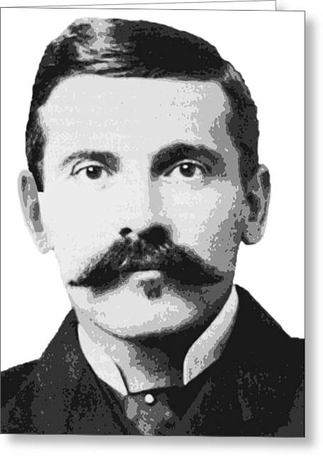 Shootist Greeting Cards - Legend Doc Holliday Greeting Card by Daniel Hagerman
