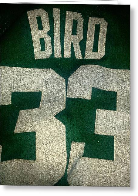 Larry Bird Photographs Greeting Cards - Legend Greeting Card by Joe Noto