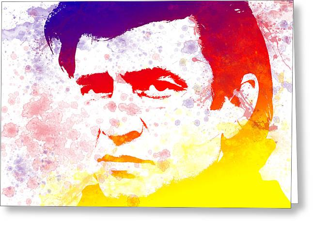 Nashville Songwriters Hall Of Fame Greeting Cards - Legend Johnny Cash Greeting Card by Chris Smith